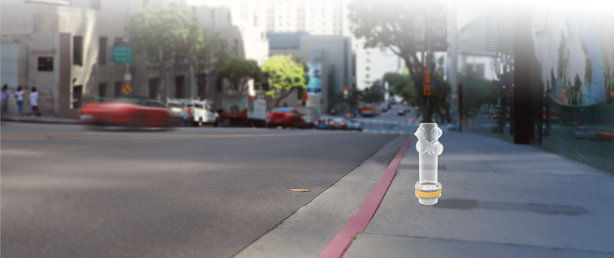 Hydrant Guard render on Los Angeles Street
