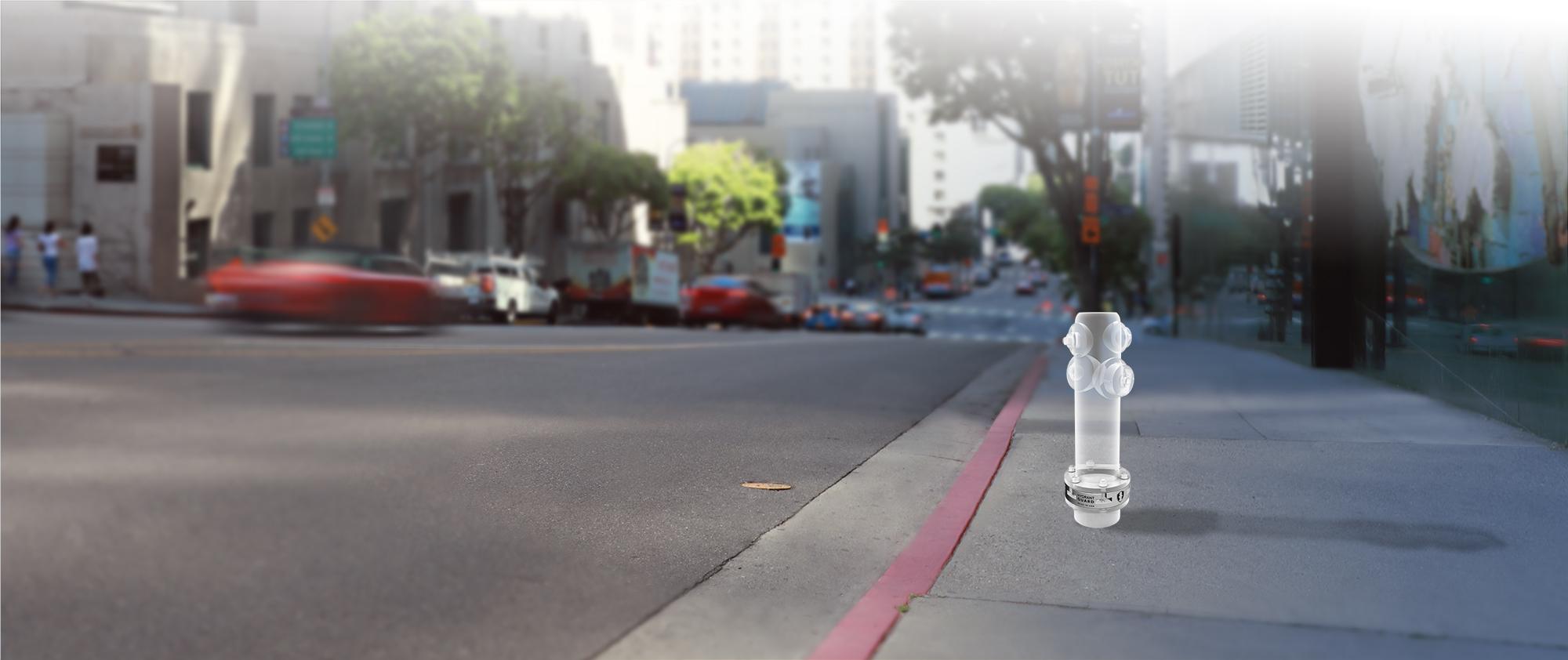 Hydrant Guard on LA street - assembled