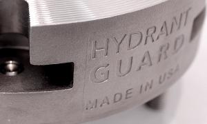 Hydrant Guard - closeup on logo